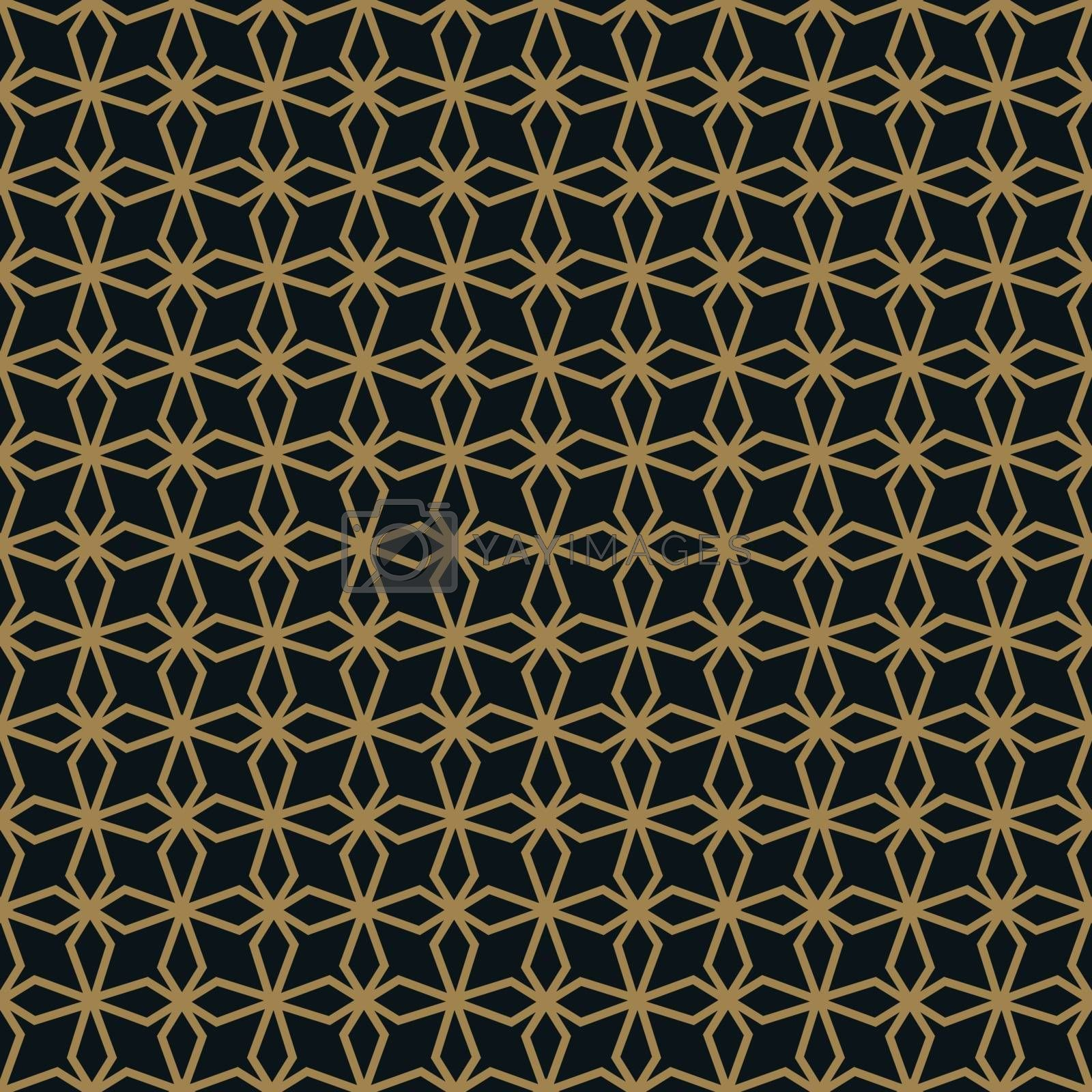 Seamless pattern with line ornament. Abstract modern geometric vector background.
