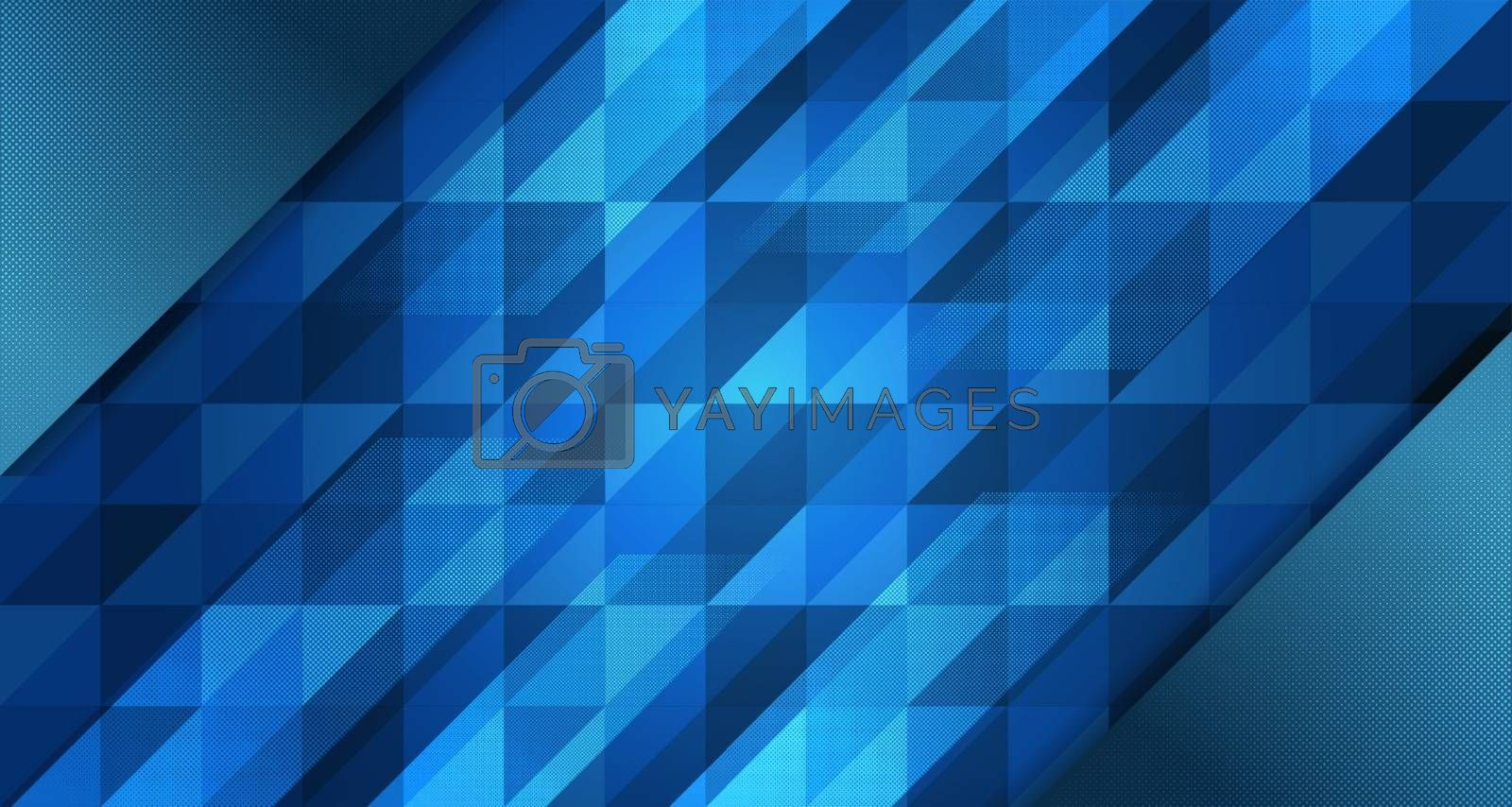 Abstract blue background gradient design with geometric by Zeedoherty