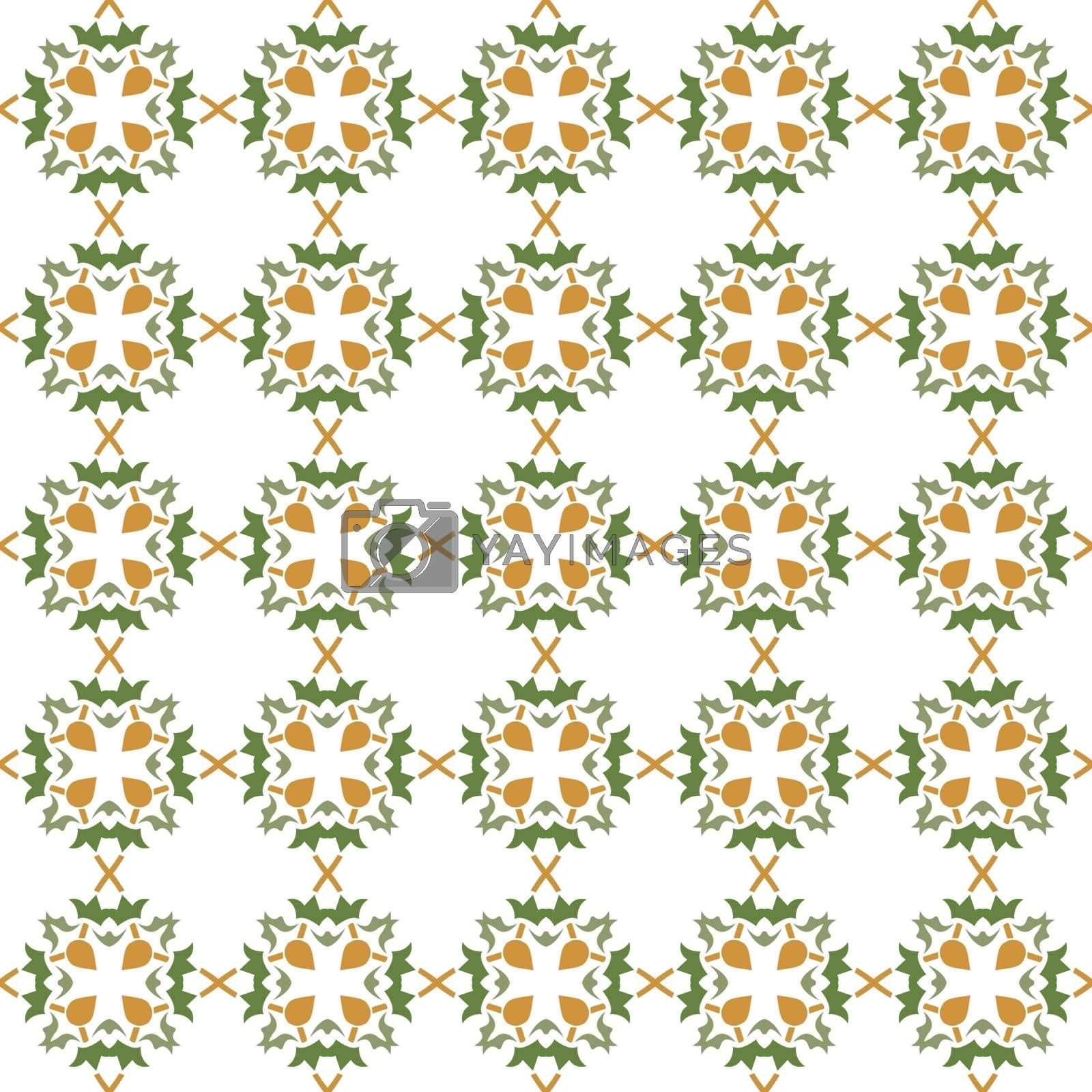 Abstract seamless ornament pattern. Vector illustration.