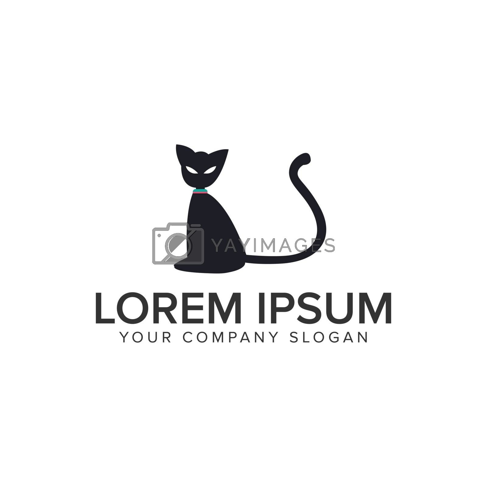 cat logo design concept template. fully editable vector