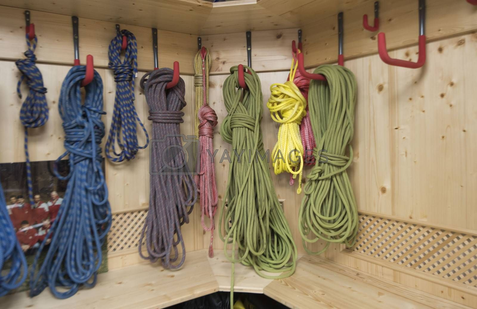 climbing rope as an essential part of the climbing equipment