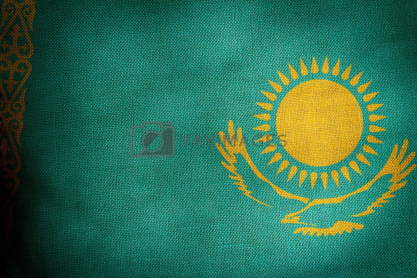 The central part of the flag of the state of Kazakhstan