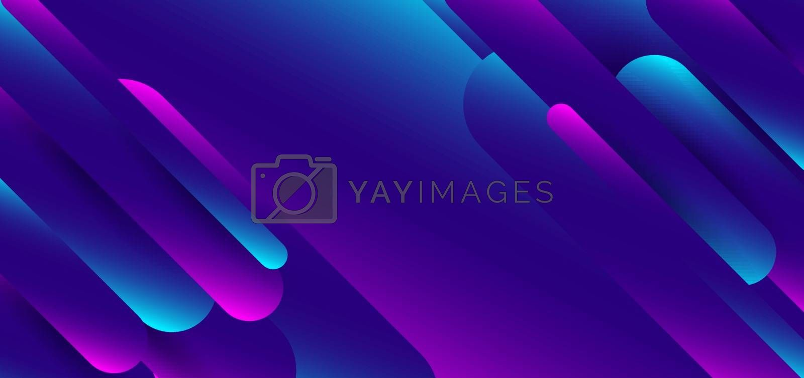 Abstract blue and pink gradient shapes rounded line background. Vector illustration