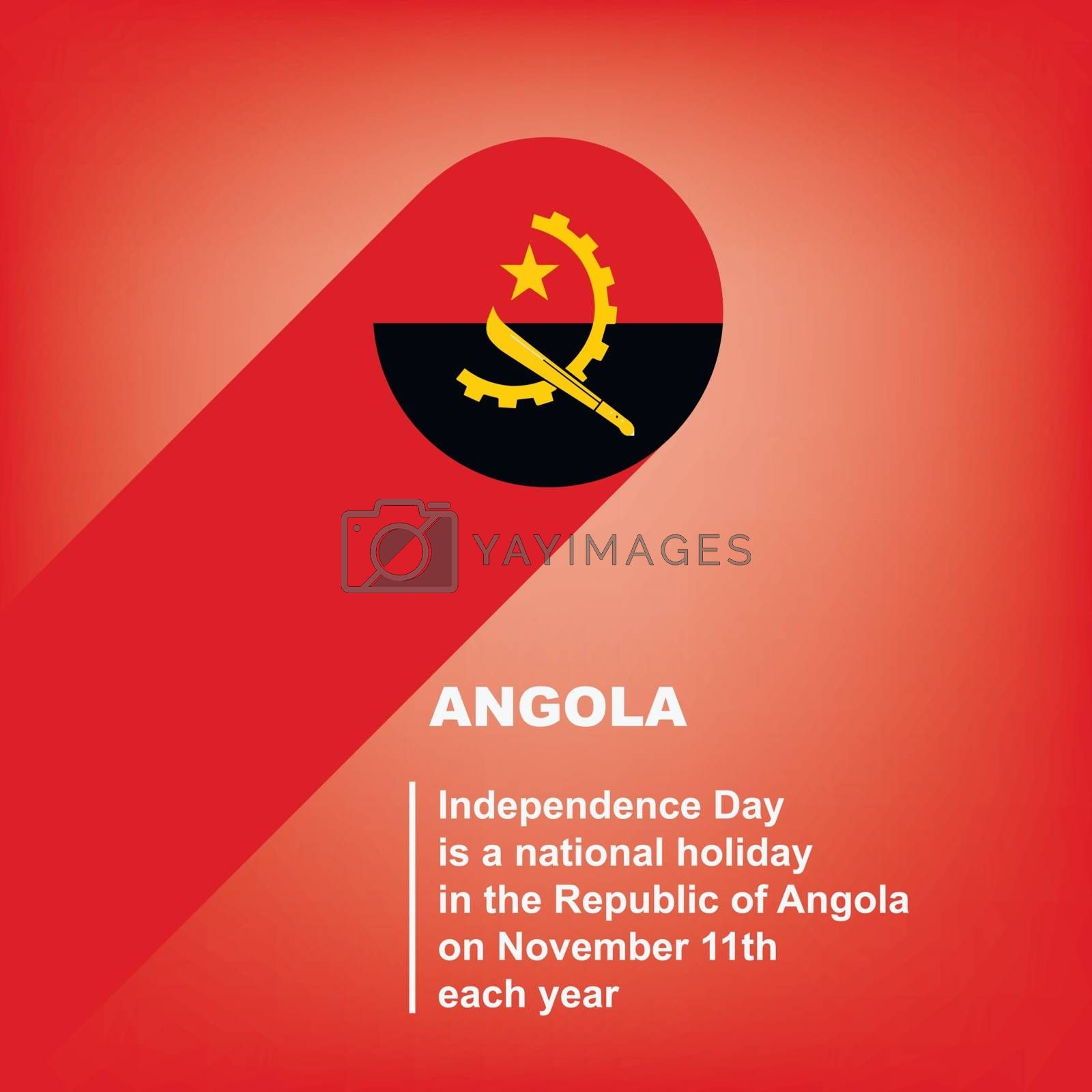 National Holiday in Angola - Independence Day. Poster for event