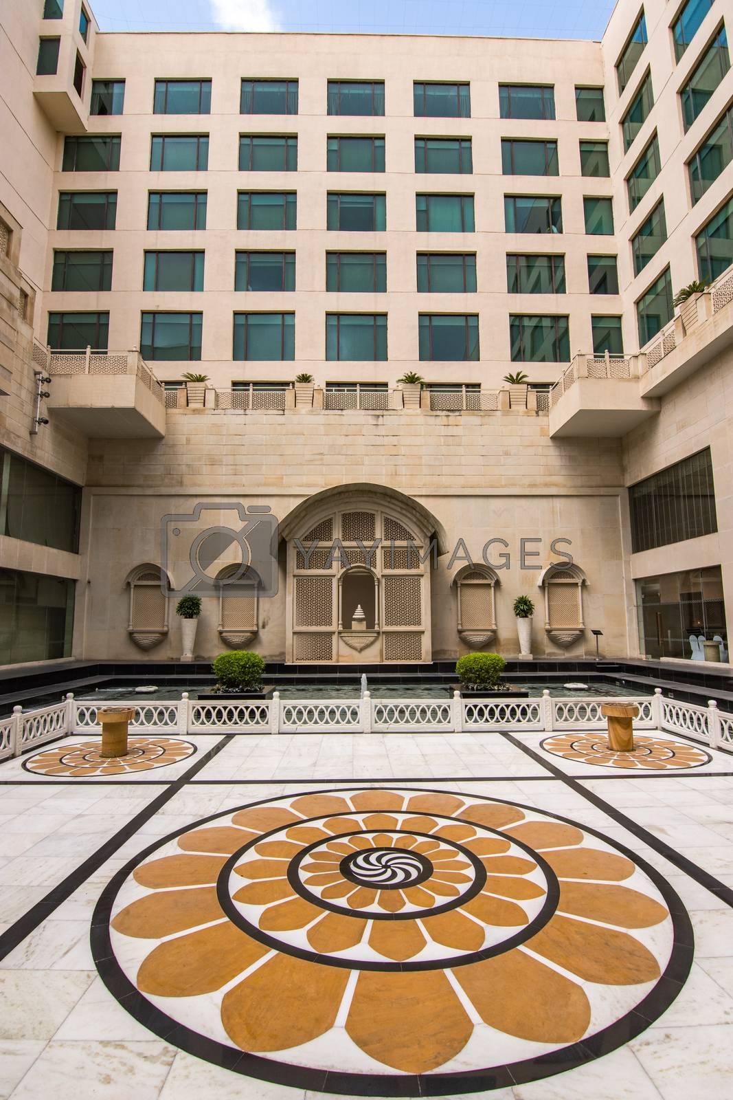 Jaipur, Rajasthan / India - September 28, 2019: The Lalit Jaipur, a 5-star luxury hotel in Jaipur, Rajasthan, India