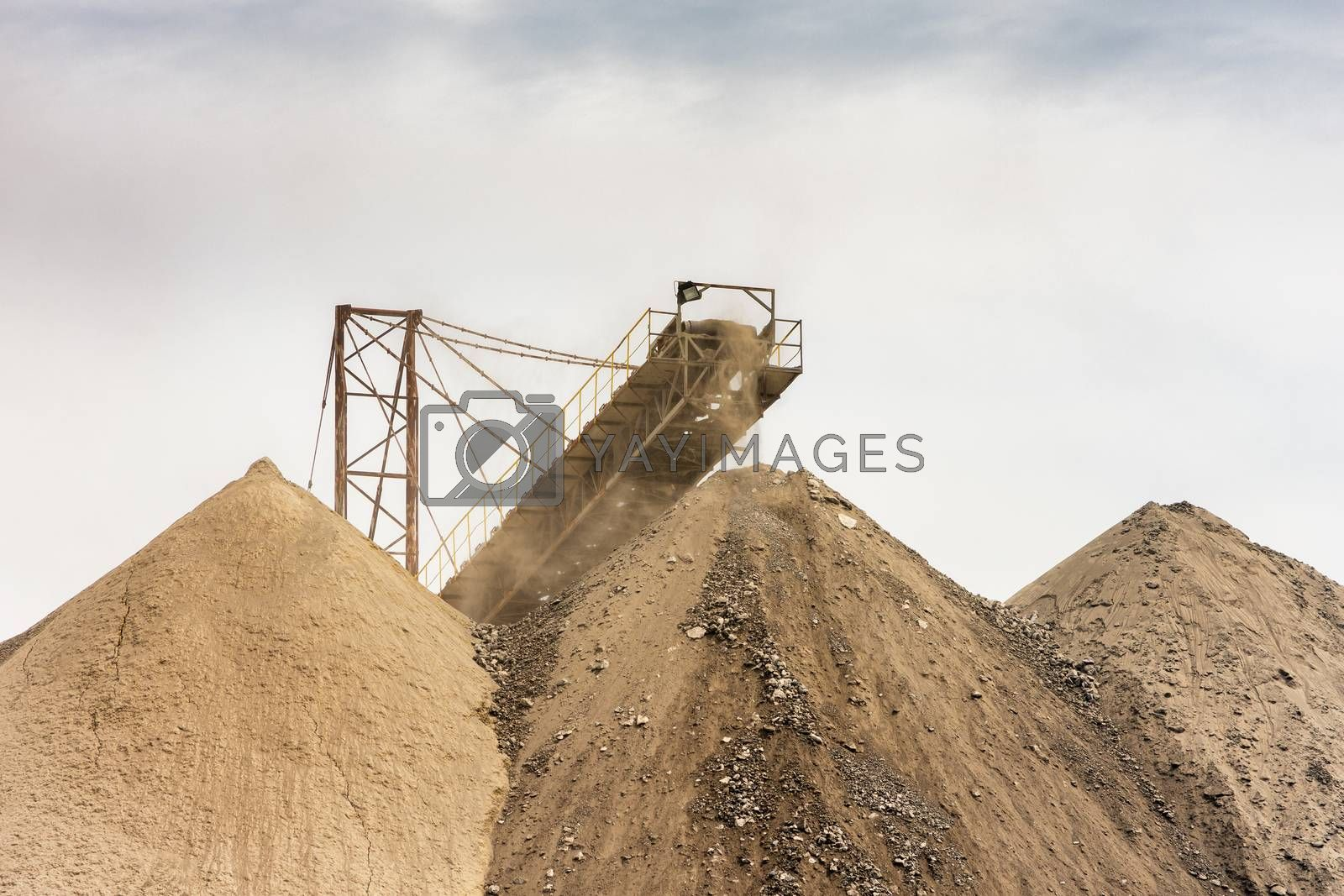 Bor / Serbia - July 13, 2019: Heaps of tailings and mine dumps in Bor, Eastern Serbia, one of the largest copper mines in Europe owned by Chinese mining company Zijin Mining Group