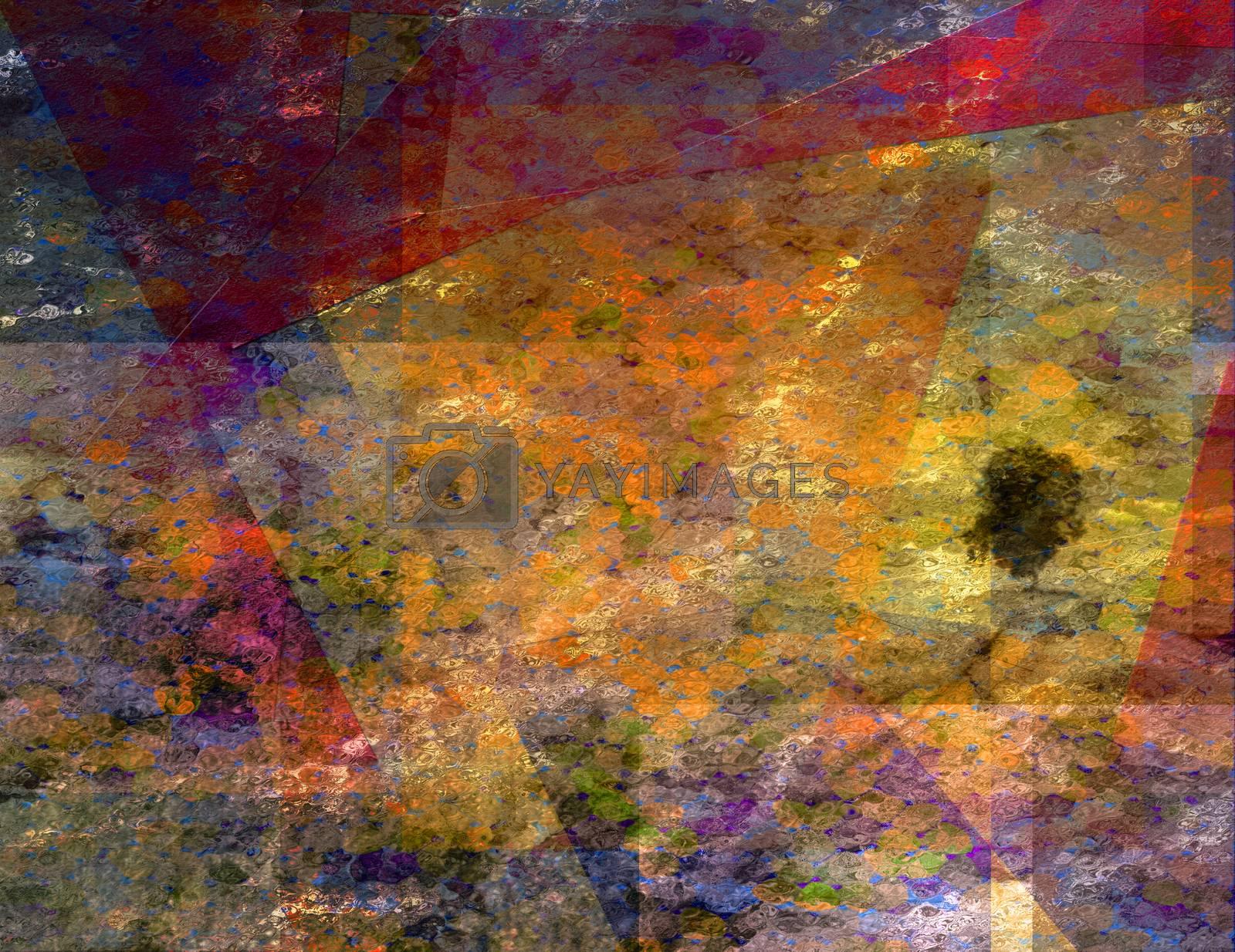 Vivid Digital Abstraction. 3D rendering