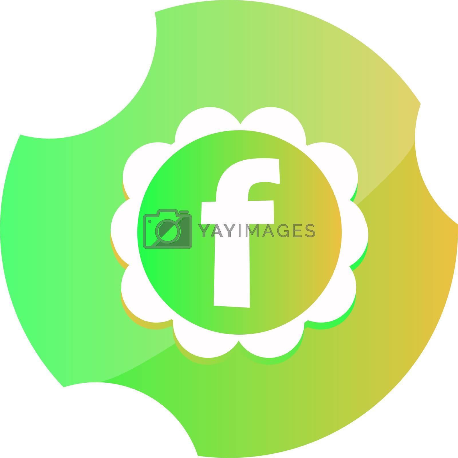 Letter F logo icon design template elements. F Icon color sign.