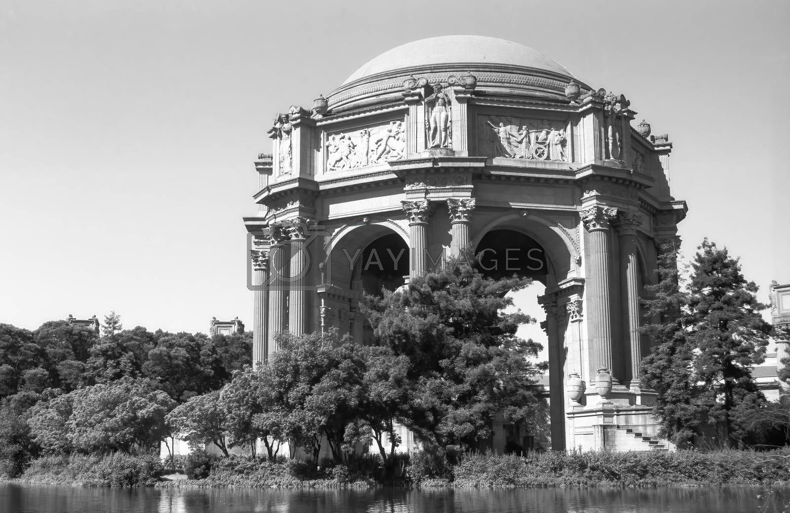 Palace of Fine Arts black and white detail shots