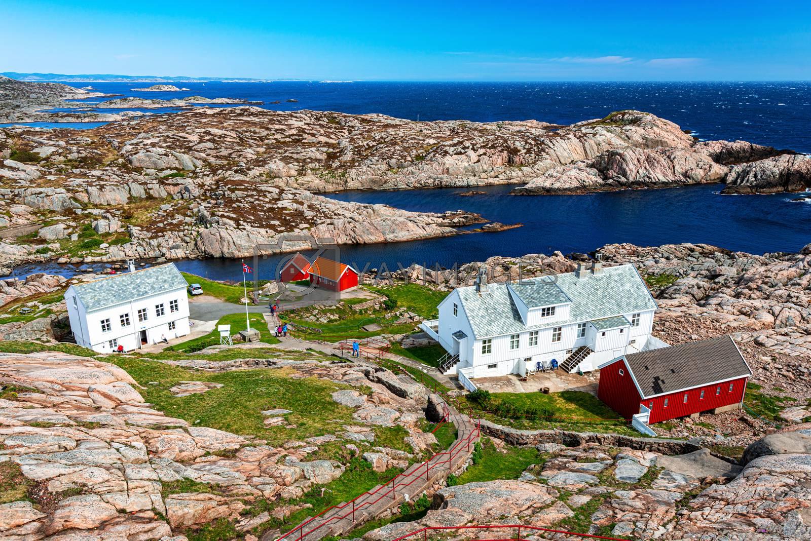 Scenic view on Norwegian coastline