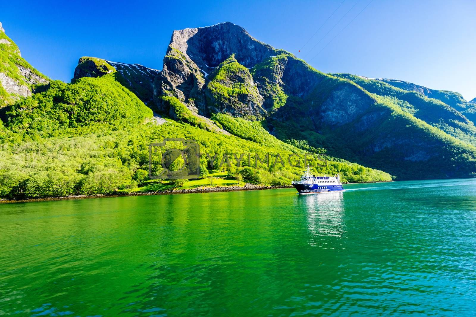 Ship at Sognefjord at Norway
