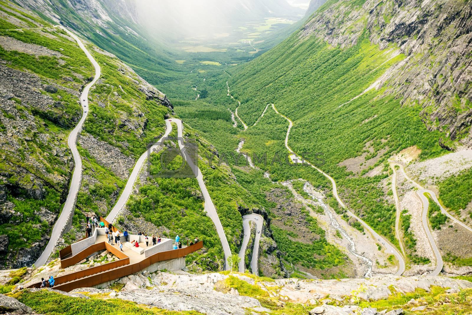 View on famous Trollstigen at Norway