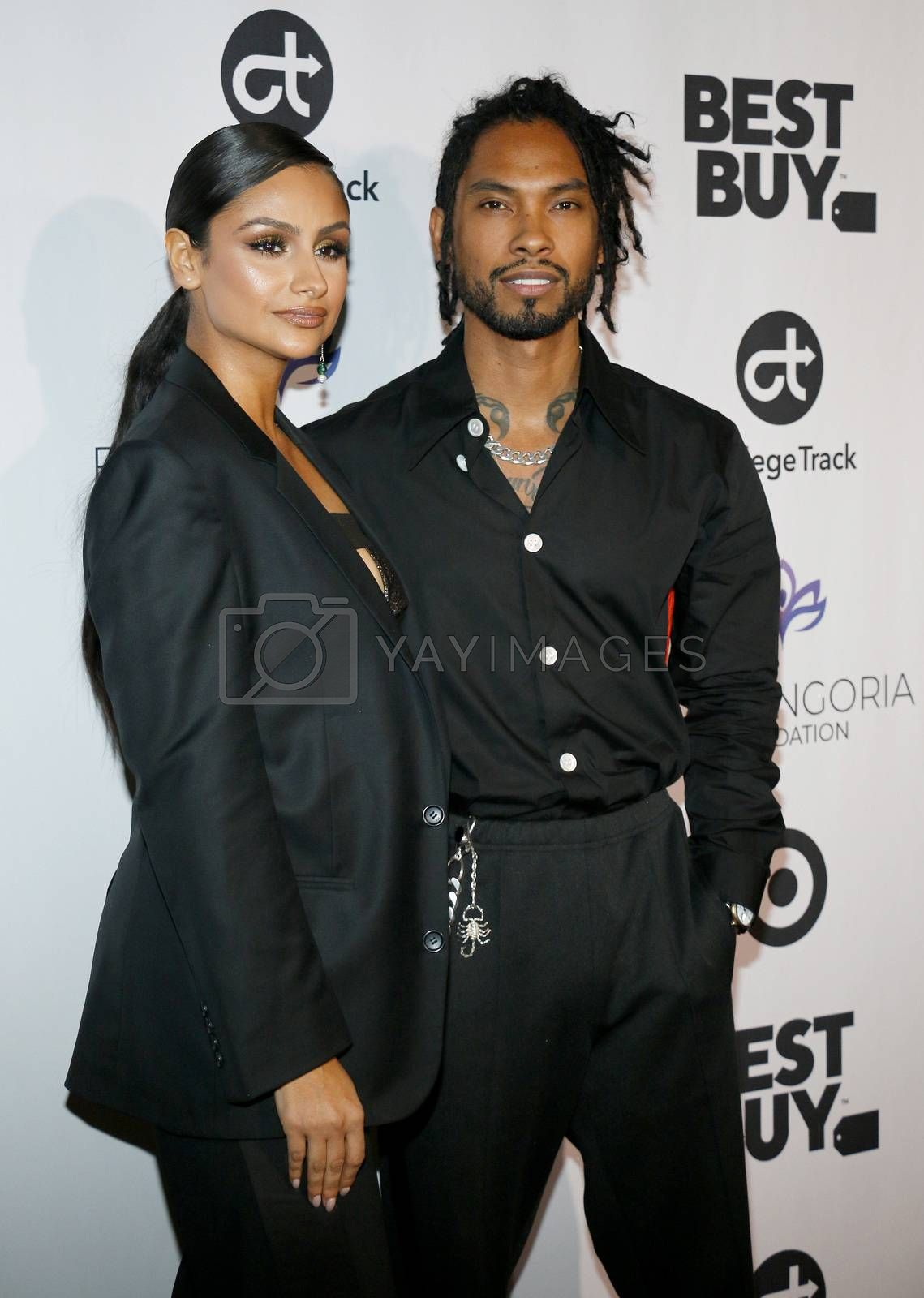Nazanin Mandi and Miguel at the Eva Longoria Foundation Dinner Gala held at the Four Seasons Hotel in Beverly Hills, USA on November 8, 2018.