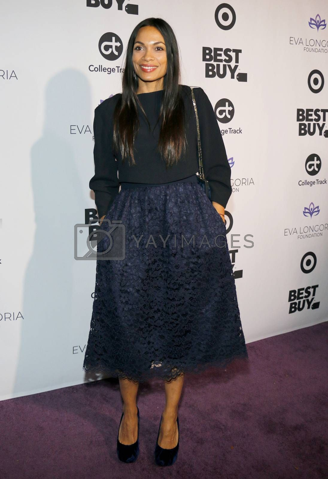 Rosario Dawson at the Eva Longoria Foundation Dinner Gala held at the Four Seasons Hotel in Beverly Hills, USA on November 8, 2018.