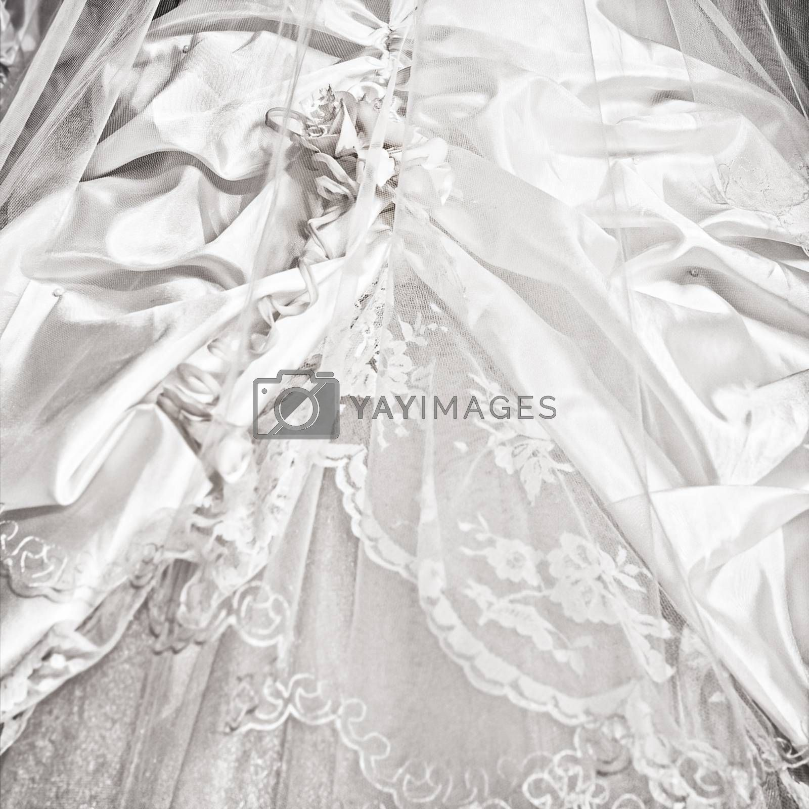 Wedding dresses in a bridal shop, fashion and style brand