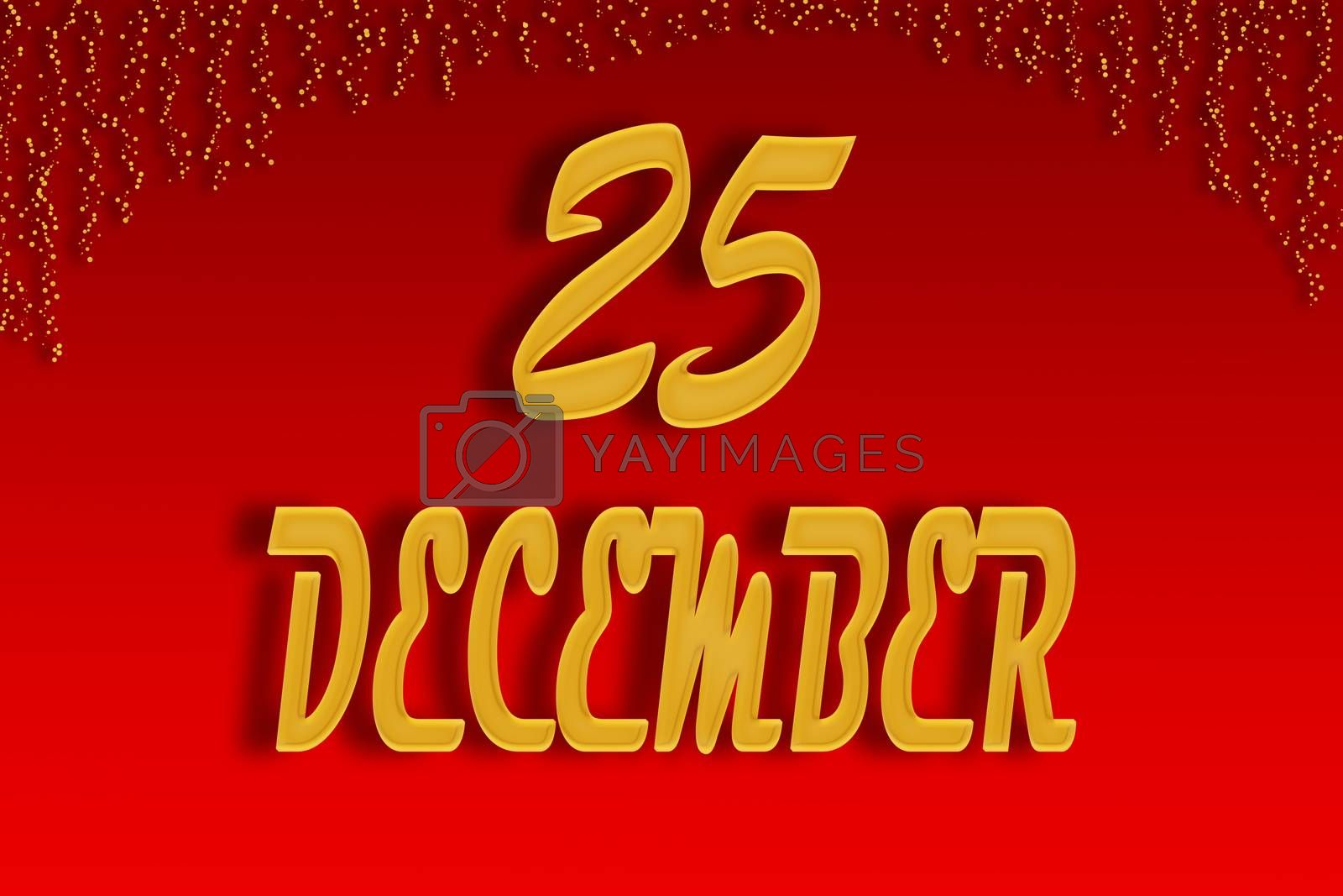 December 25 is written on a red gradient background