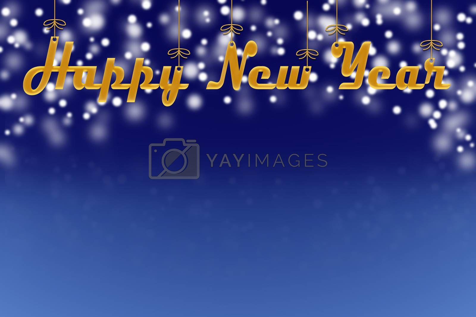 Christmas screensaver, background for Christmas and new Year greetings, blue background with snowflakes, Christmas balls and a place for the inscription