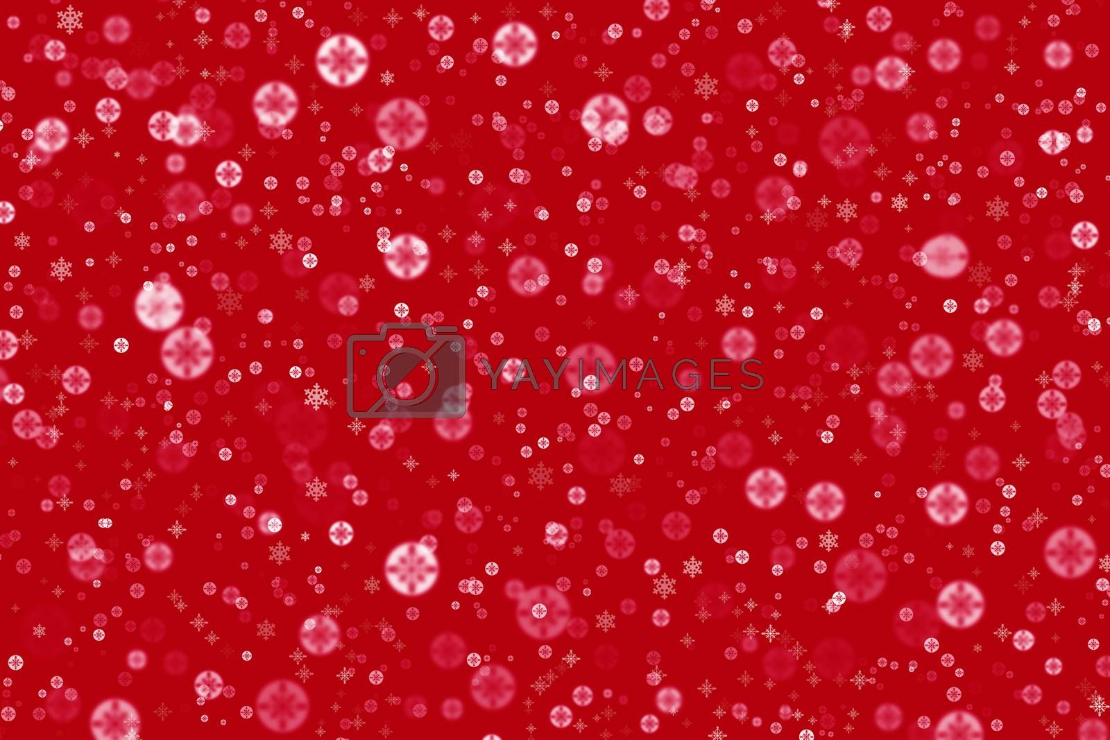 Christmas screensaver, background for Christmas and new Year greetings, red background