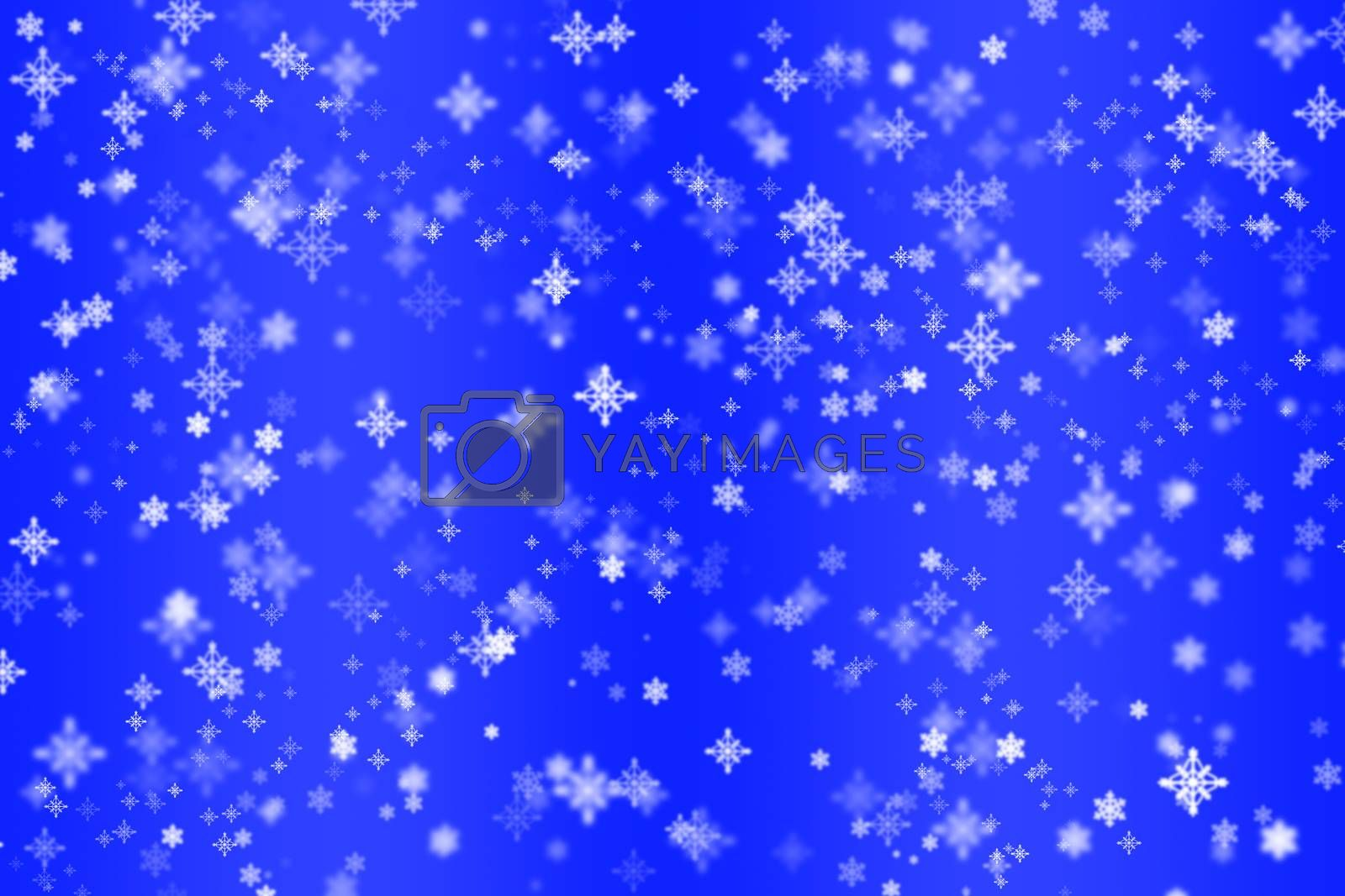 Christmas screensaver, background for Christmas and new Year greetings, blue background
