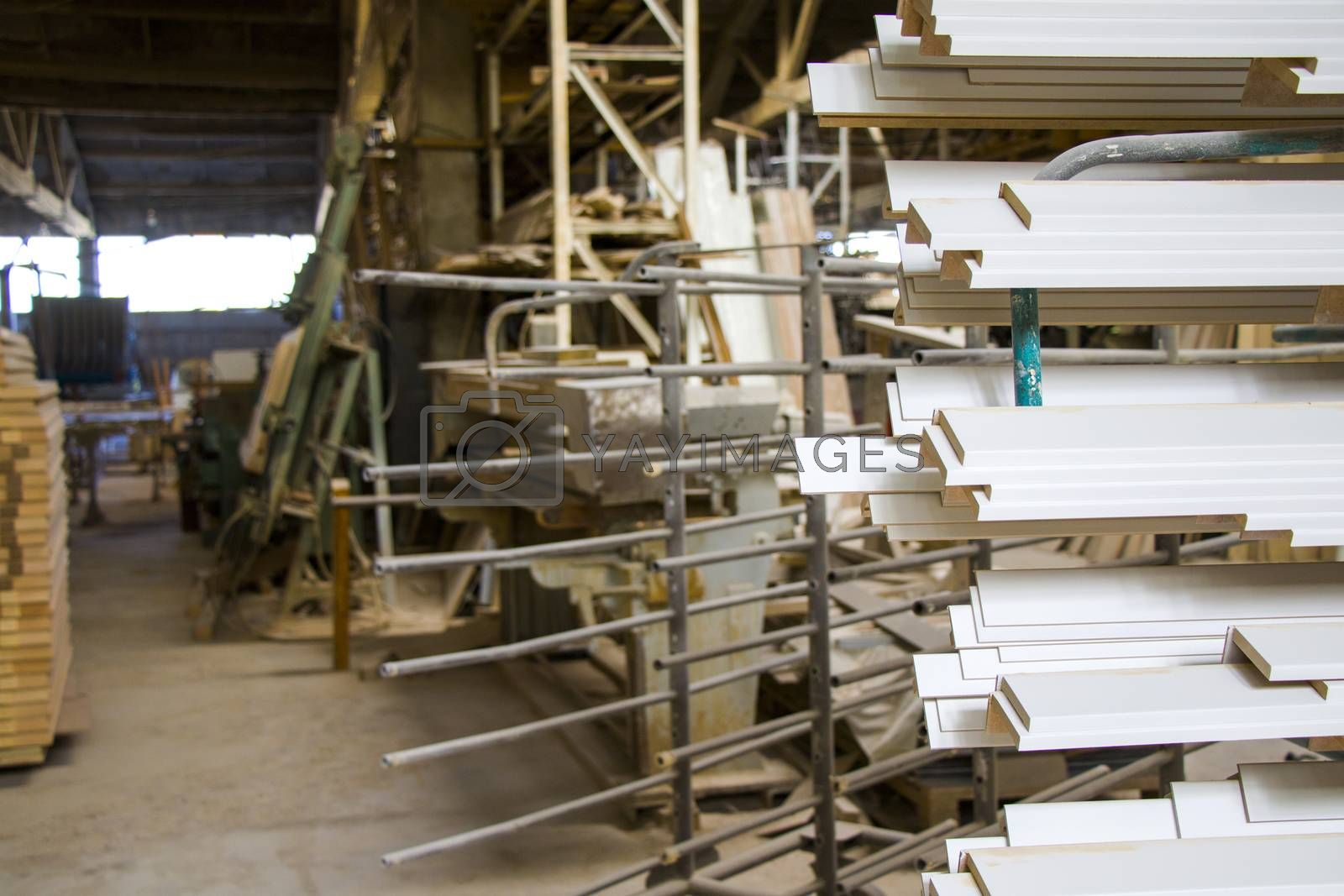 Tbilisi, Georgia - October 24, 2020: Factory of wooden and metal materials
