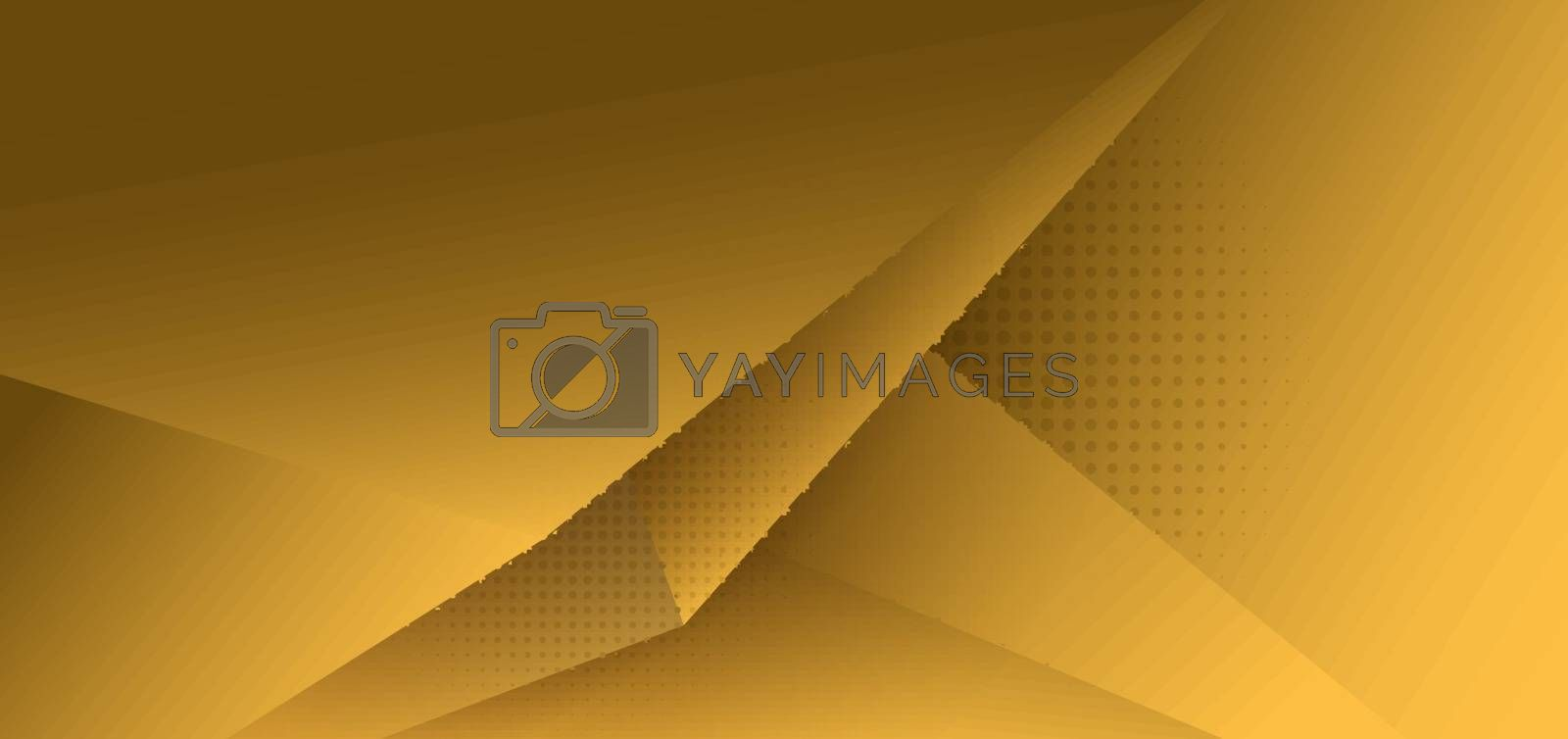 Abstract yellow polygon triangle gradient background with shadow and space for your text. Vector illustration