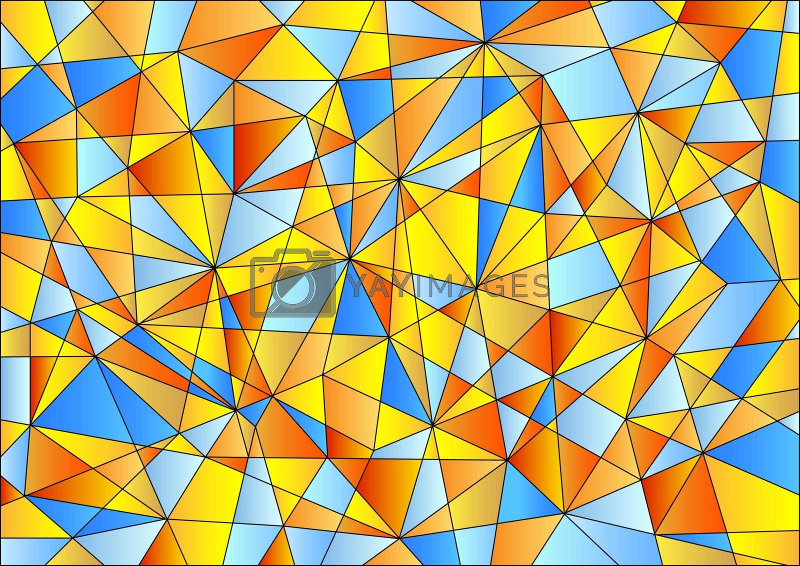 Abstract geometric pattern in happy colors by Frank11