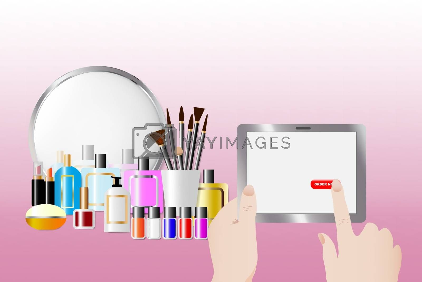 Order cosmetic services and accessories concept by Frank11