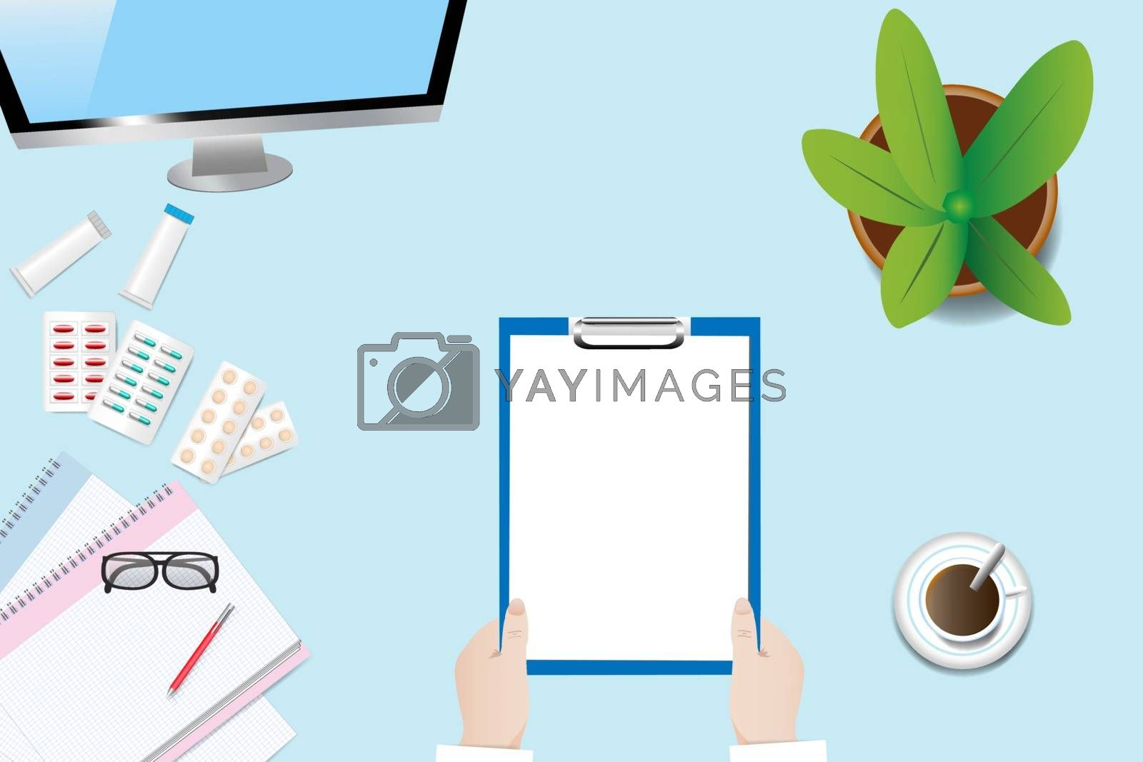 Medical care concept vector by Frank11