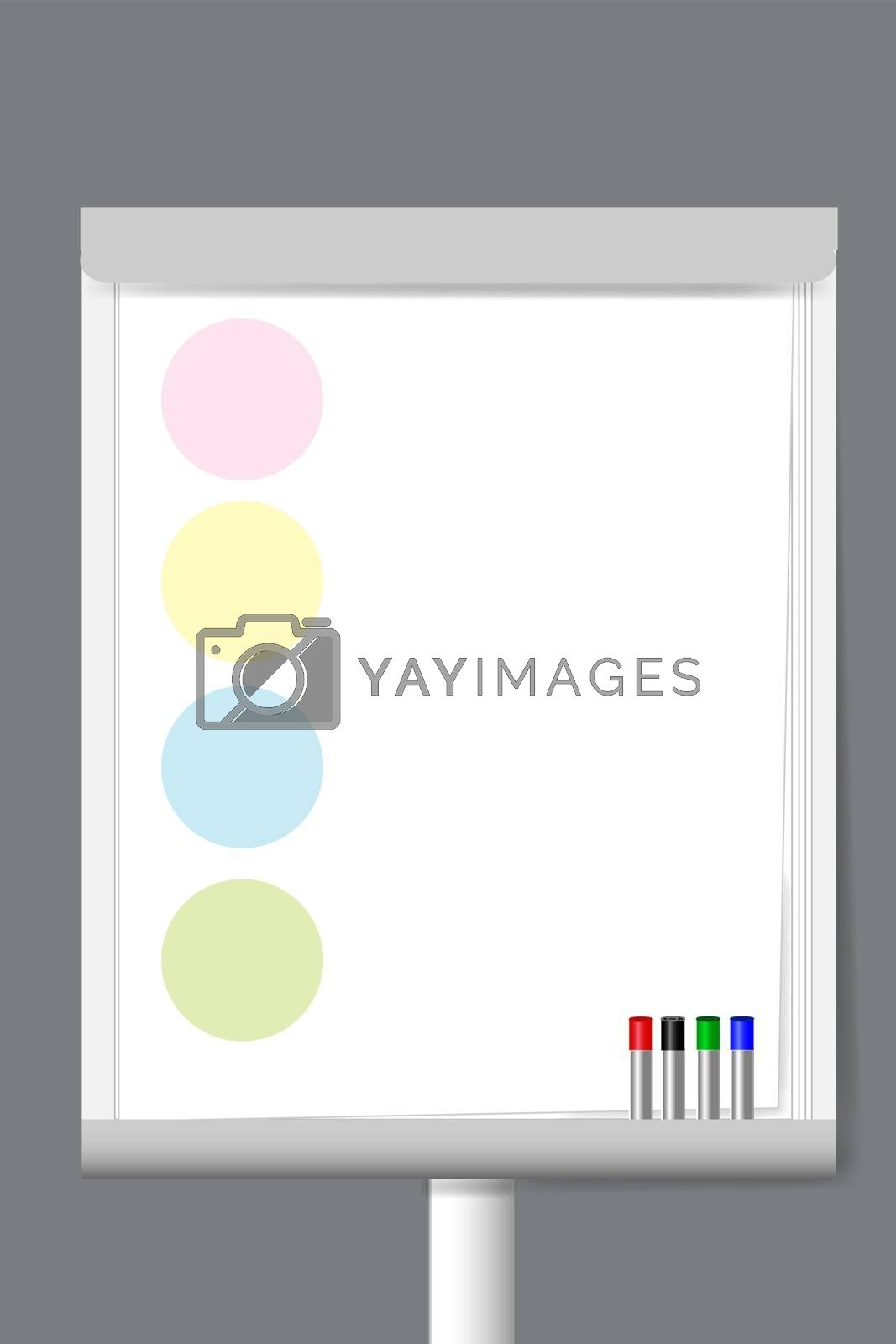 Flip chart with color circle moderation papers  by Frank11