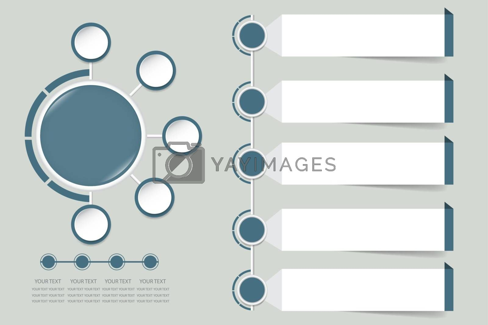 Modern infographic vector in faded shade of blue color  by Frank11