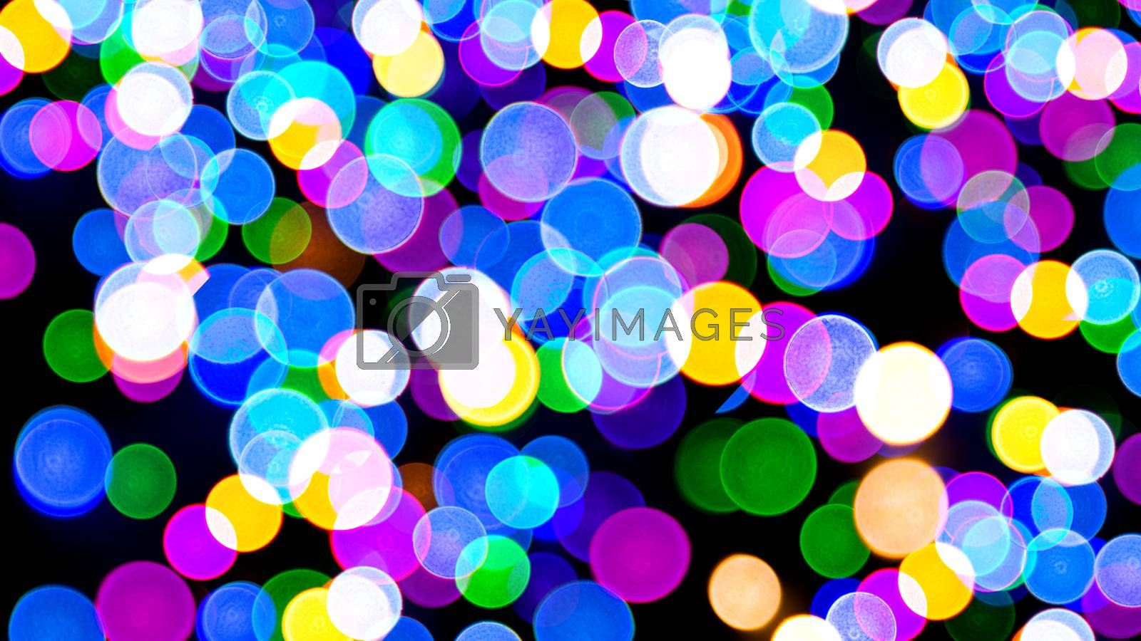 Abstract Light Bokeh Background, Christmas concept Xmas greeting card. Magic holiday poster, banner