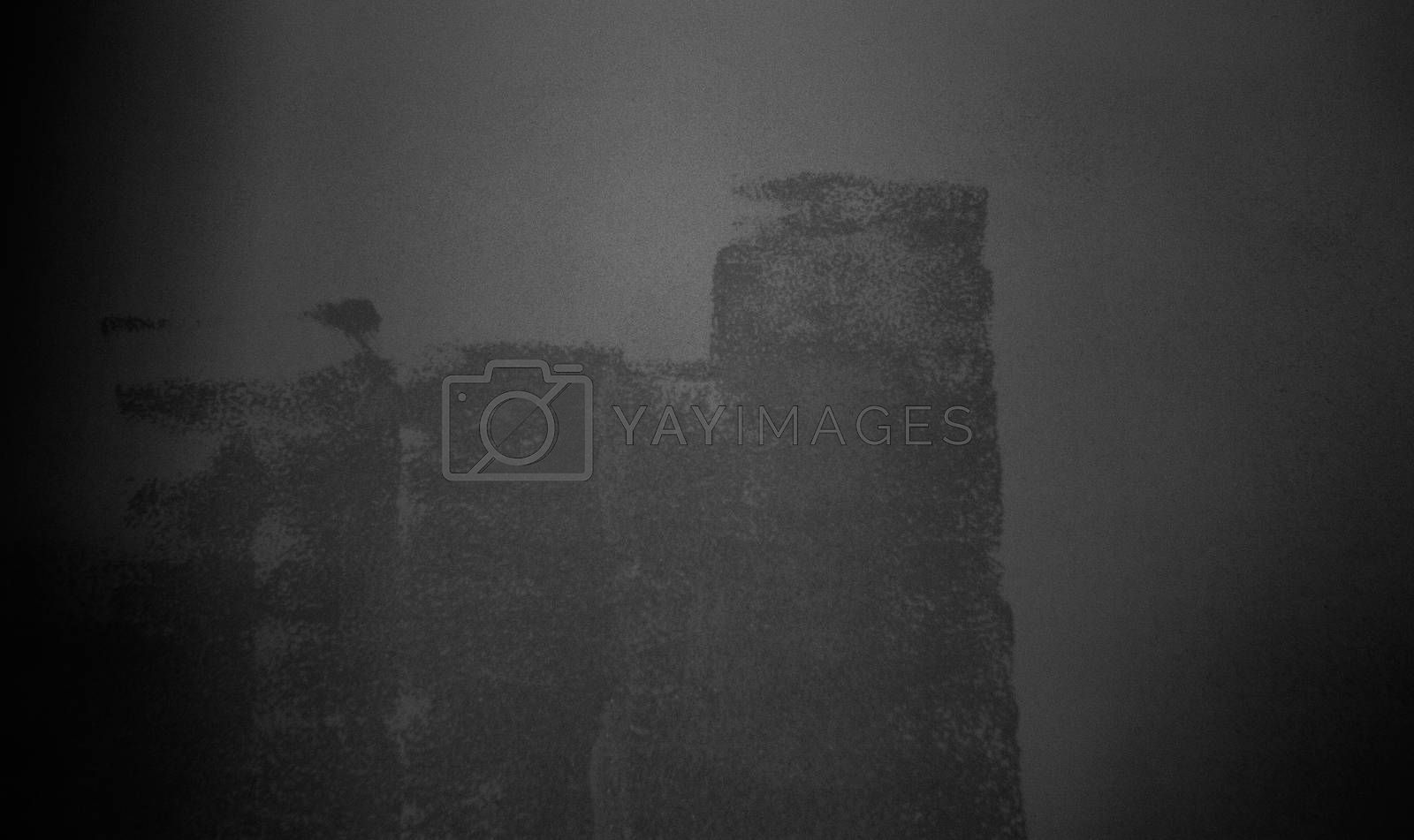 Abstract dark photocopy background with noise, Error concept