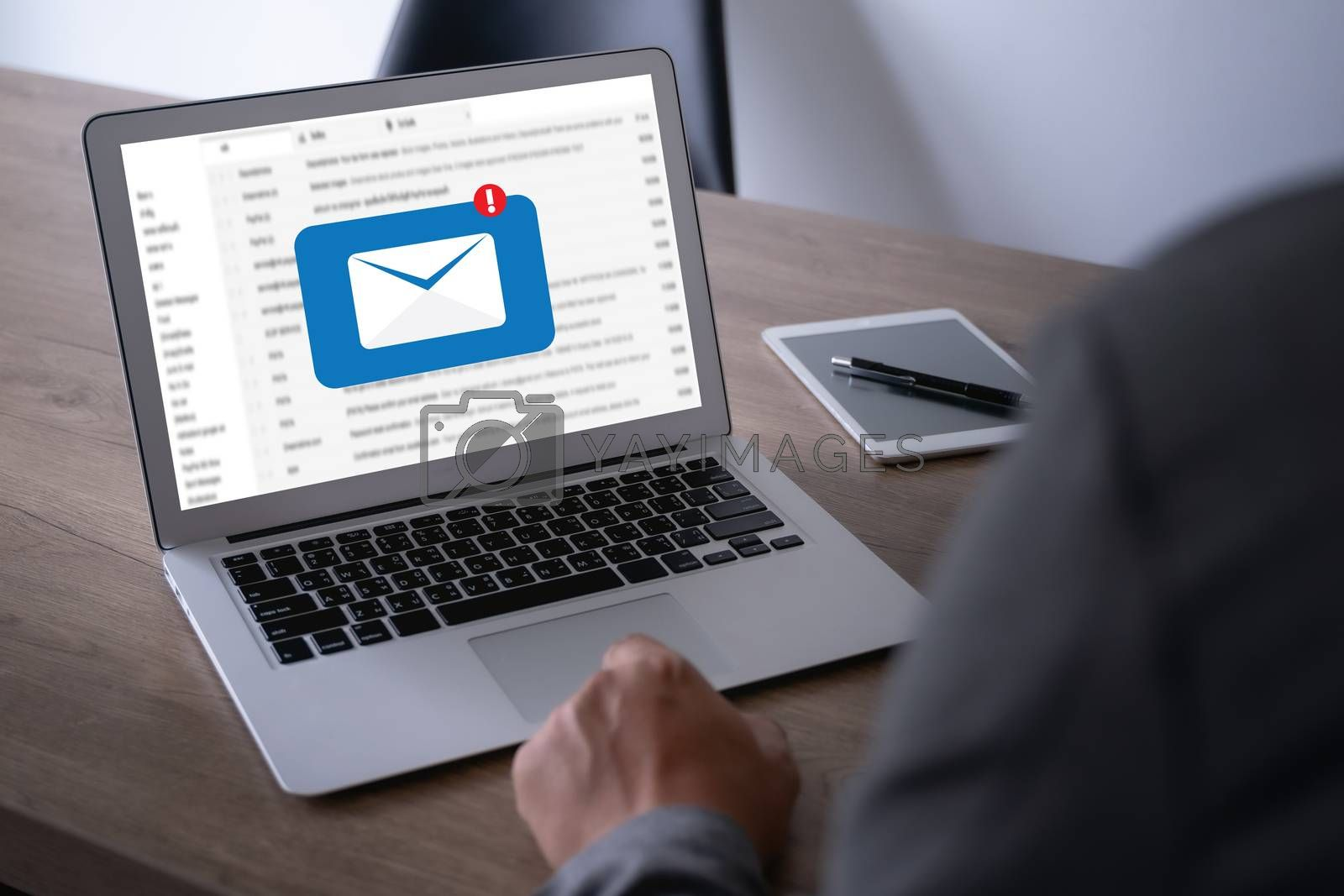 Mail Communication Connection message to mailing contacts phone Global Letters Concept