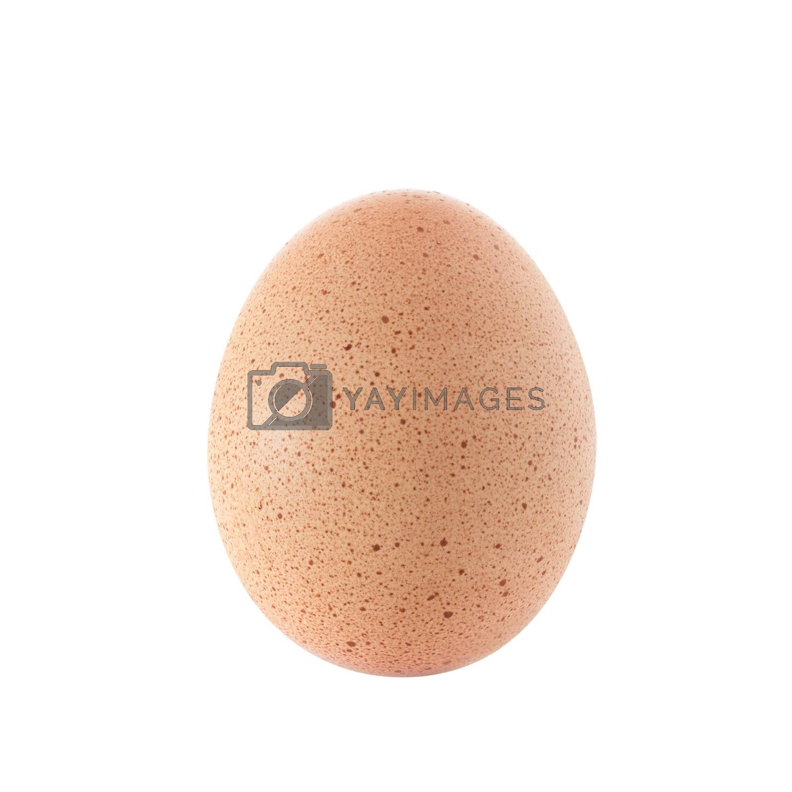 Egg with stains isolated on white background