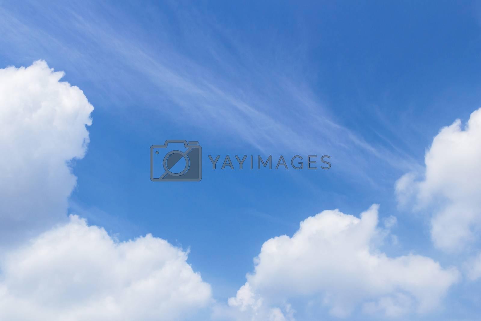Fluffy sky background with copyspace. Stunning sky backdrop.