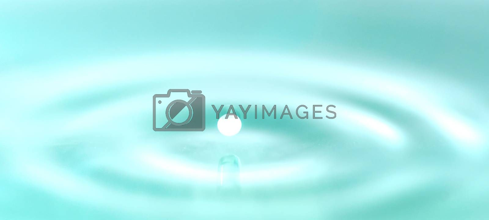 Water droplets science experiment and art concept bright color background Natural.