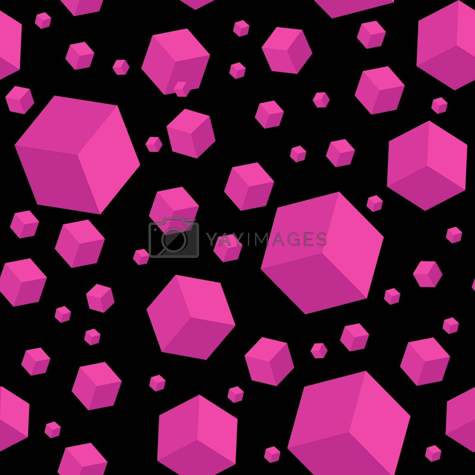 Seamless geometric abstract pattern for simple backgrounds textures and packaging. Vector illustration.