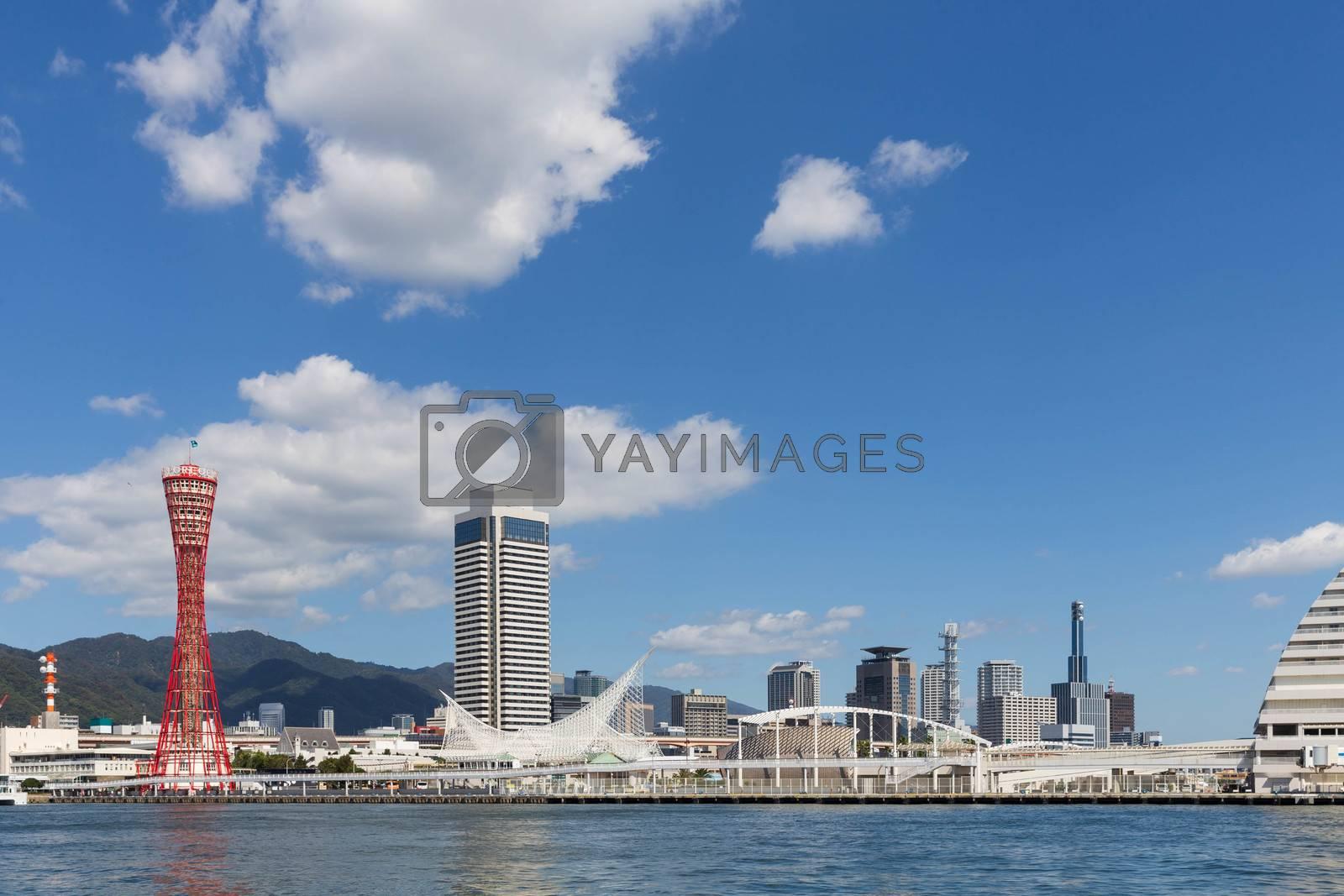 Landmark tower in Kobe, Japan