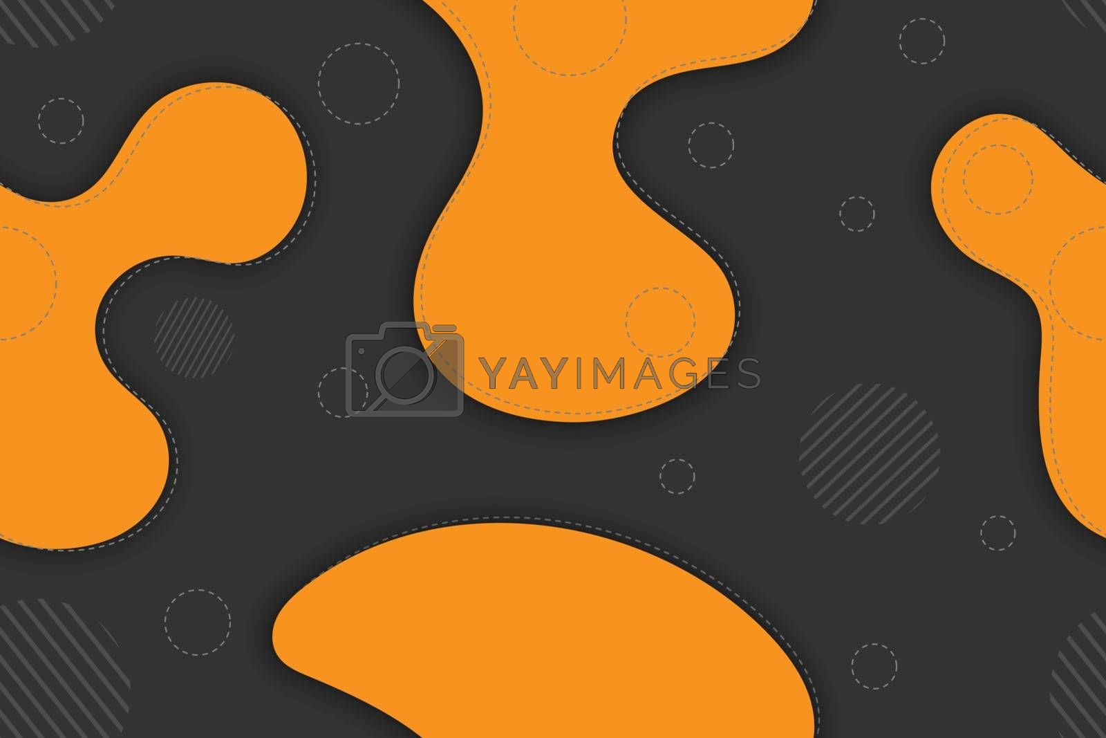 Seamless pattern of abstract shapes for simple backgrounds, textures and packaging, banners and posters.