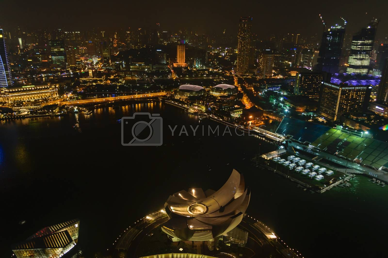 Singapore,Oct 18th,2014:View  central business buildings and landmarks of Singapore.