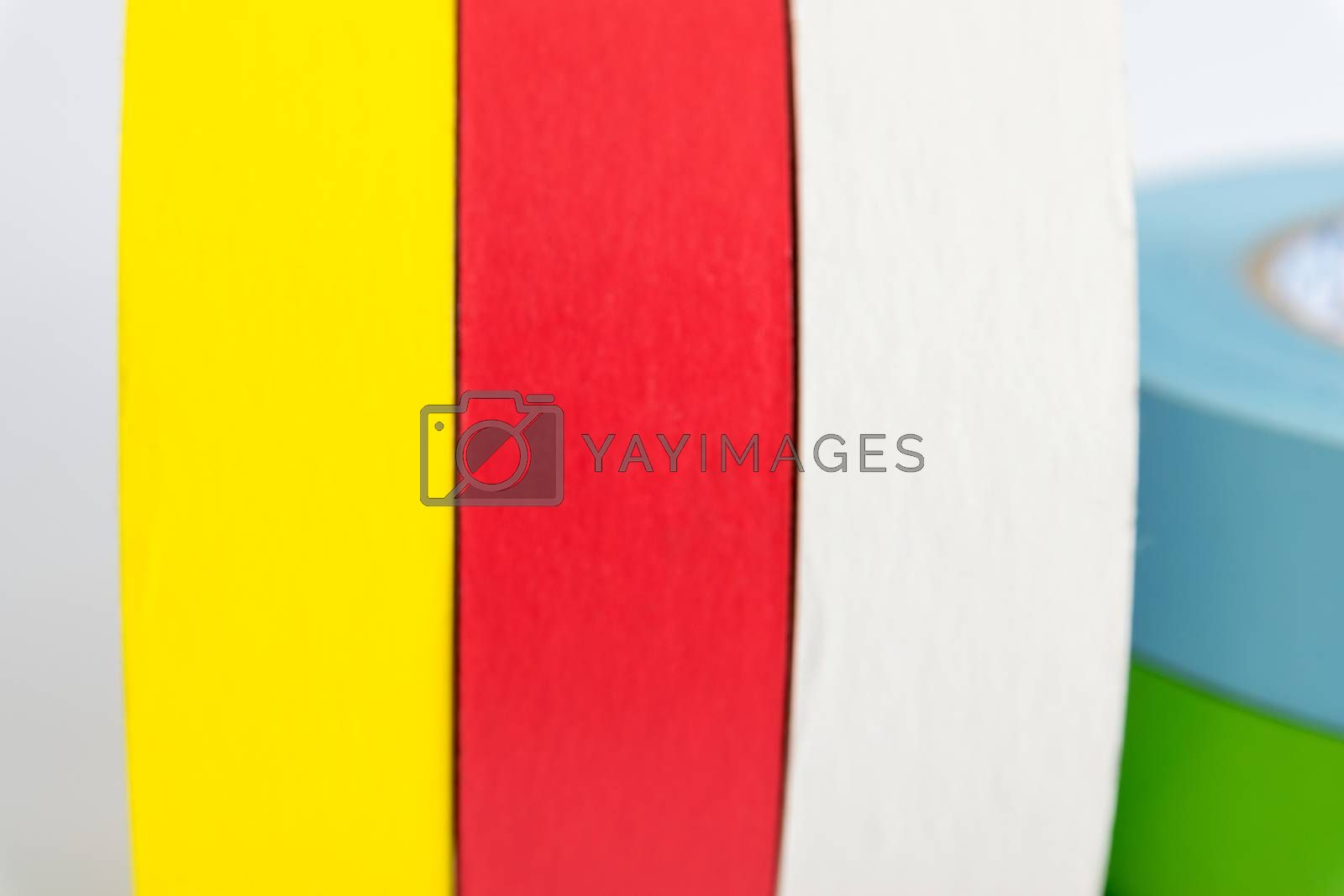 Colorful fabric adhesive tapes