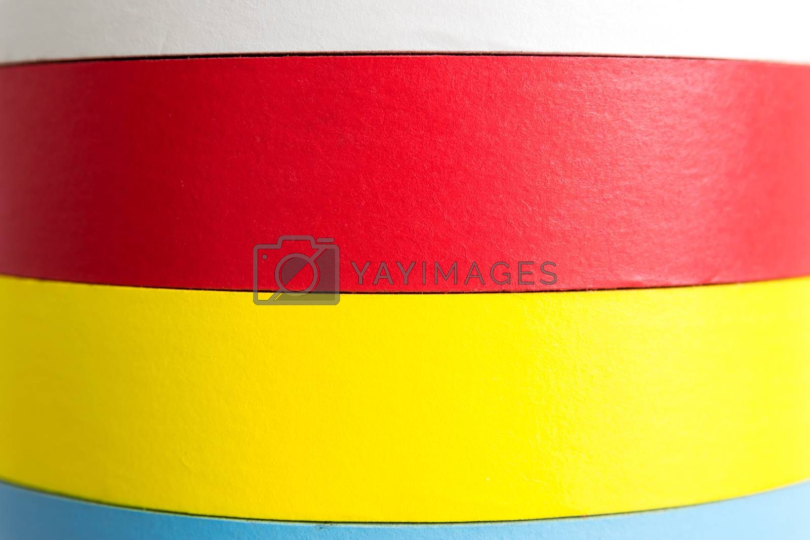 Colorful fabric adhesive tapes background texture.