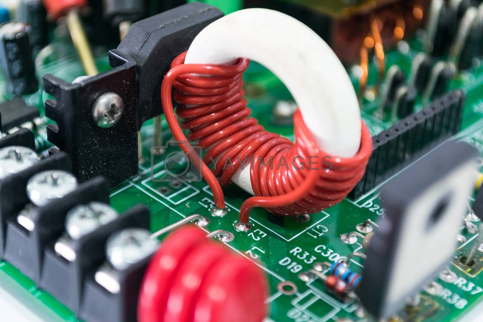Electronics powers control board and accessories.