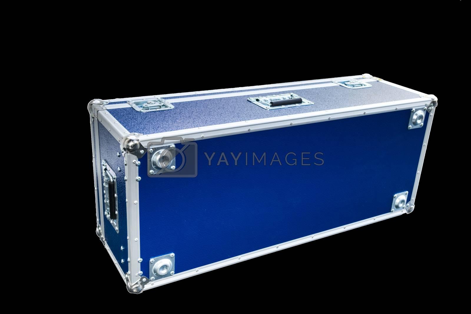 Colorful blue big box isolated on white background.