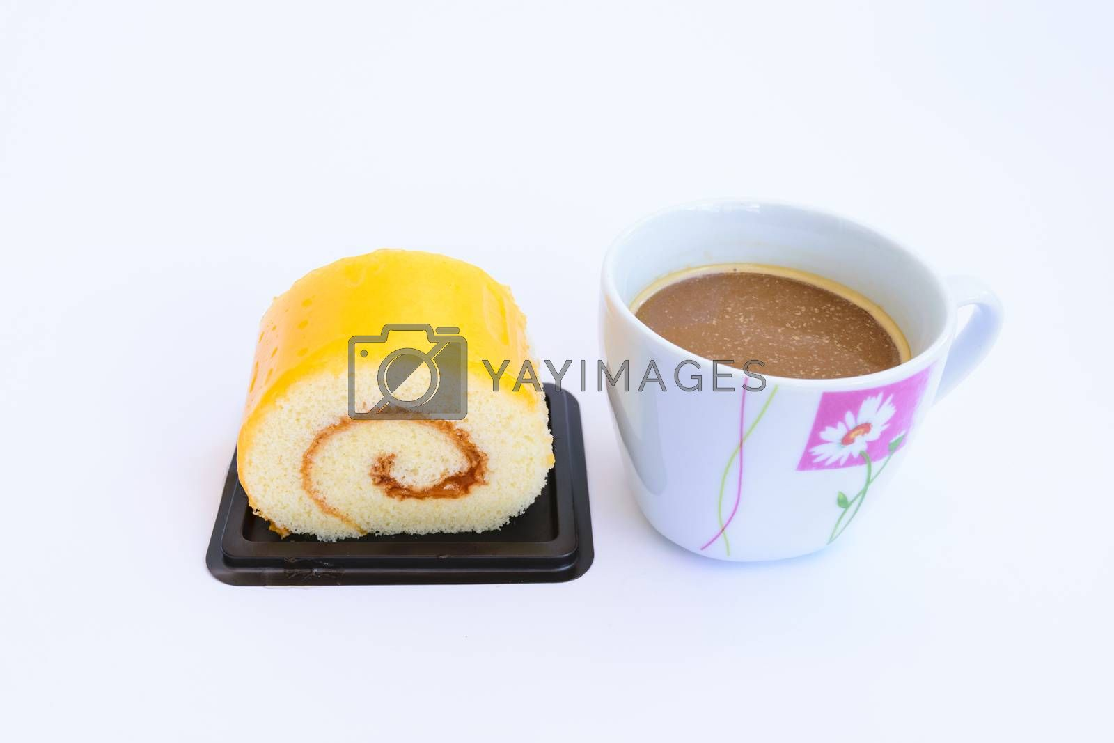 A small sweet cake, typically round, flat, and crisp with coffee.