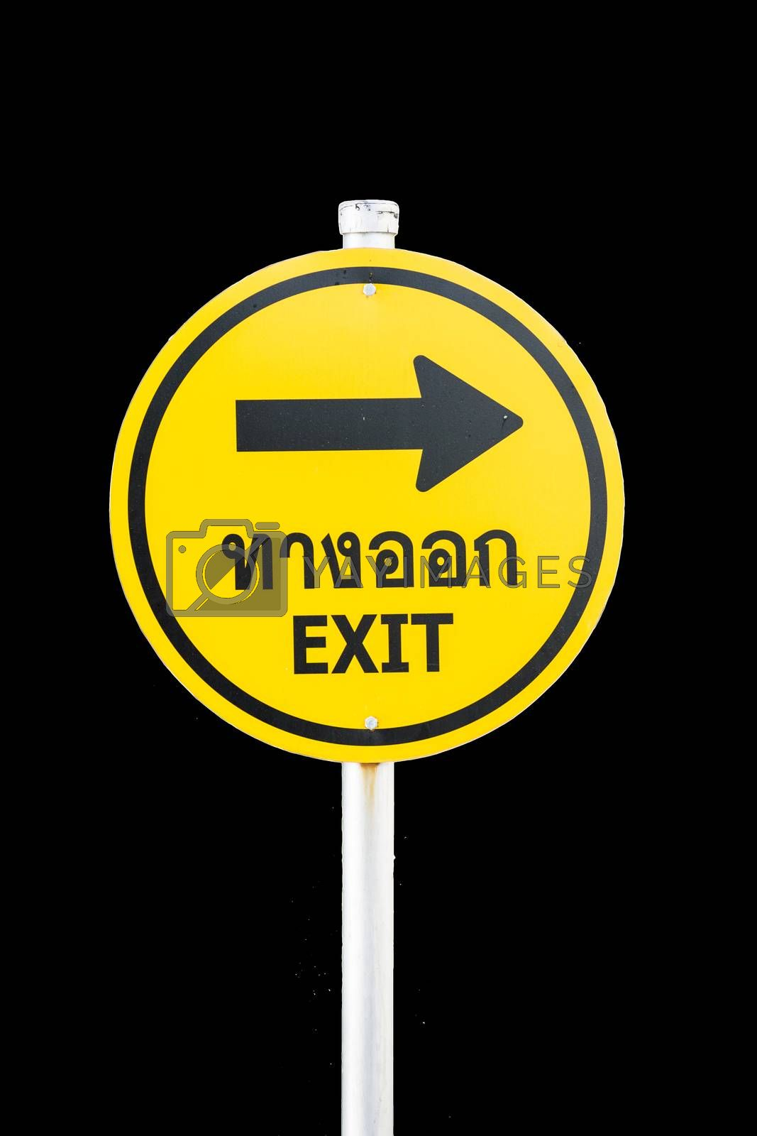 Exit signboards