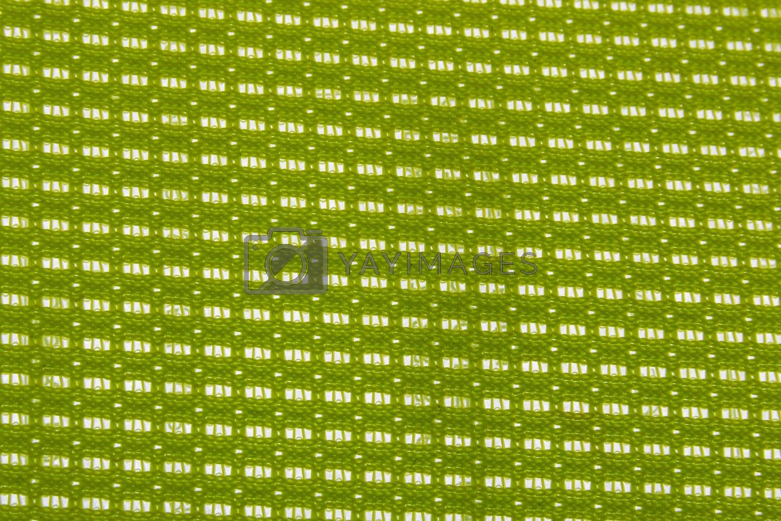 Green color plastic background pattern texture.