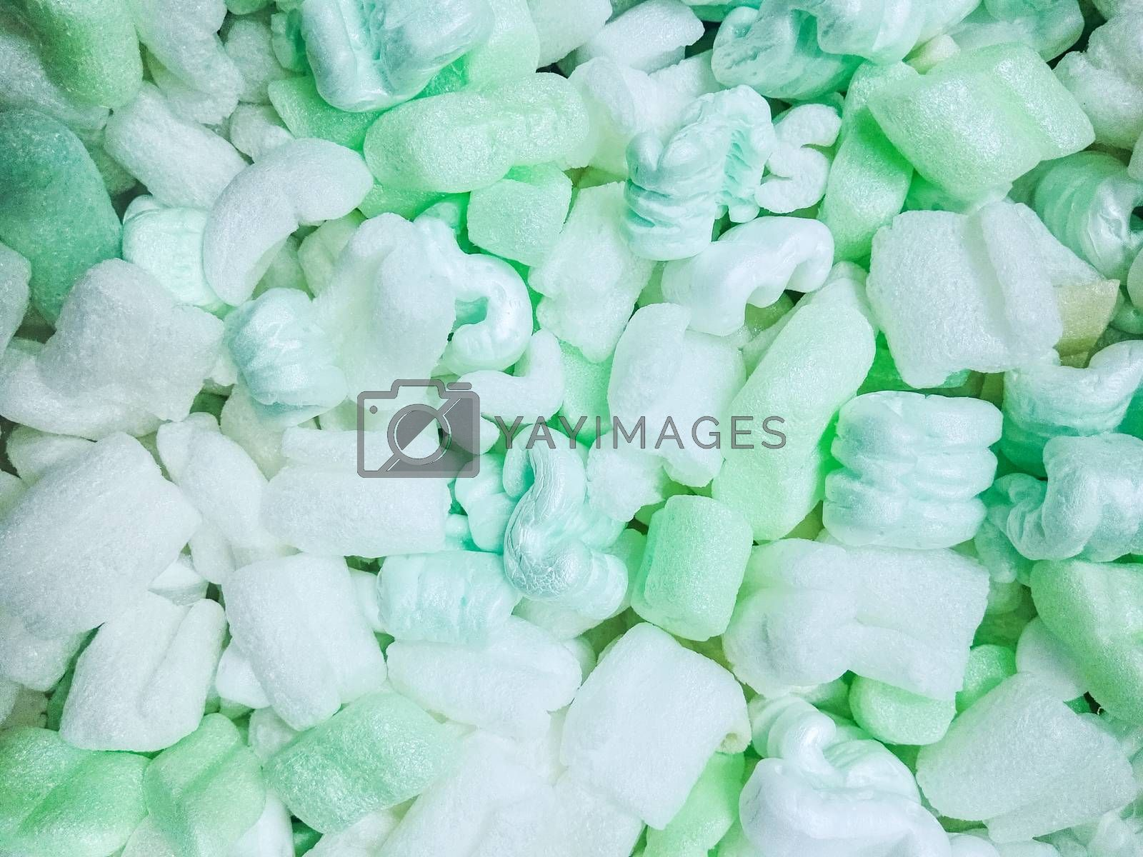 Green and white foam sponge texture background