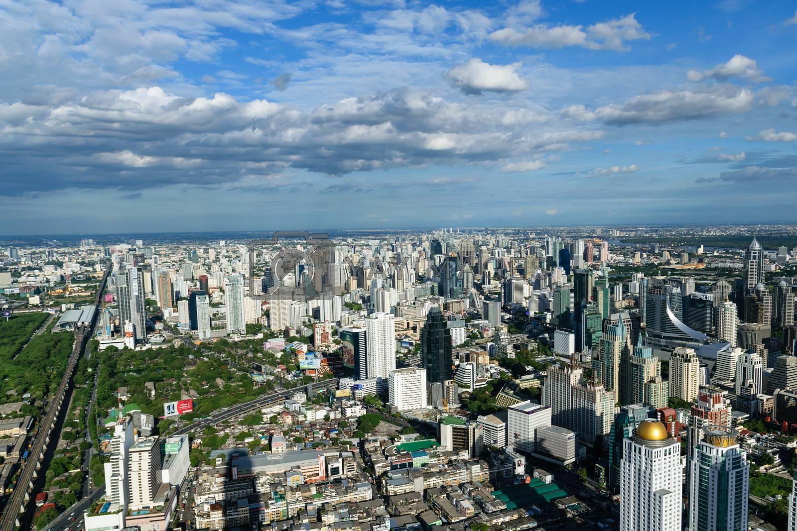 High point view on Bangkok Thailand. by wattanaphob
