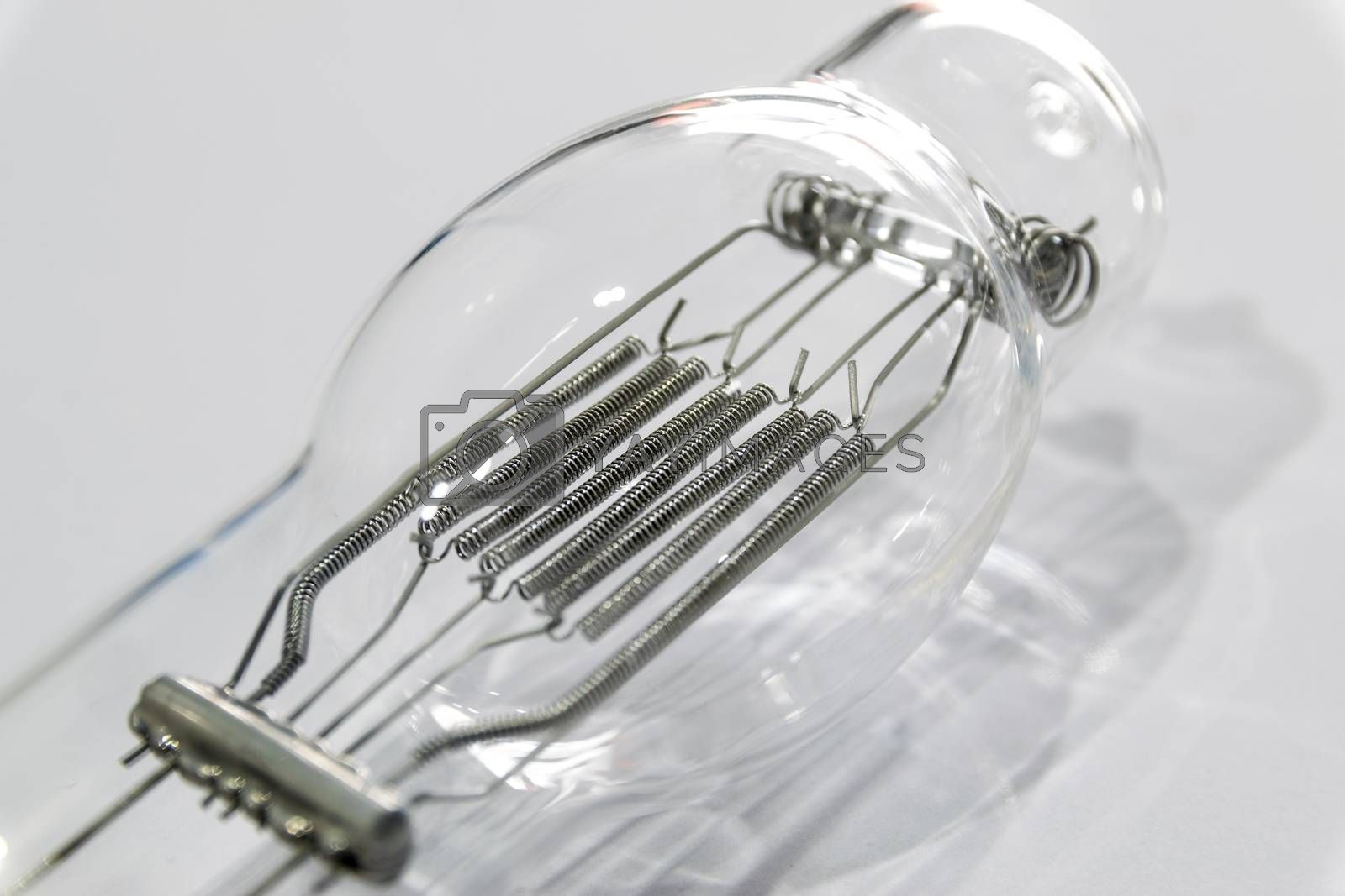 Incandescent lamp emitting light as a result of being heated